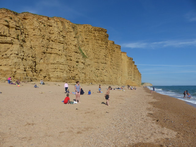 East Beach and cliff ,West Bay
