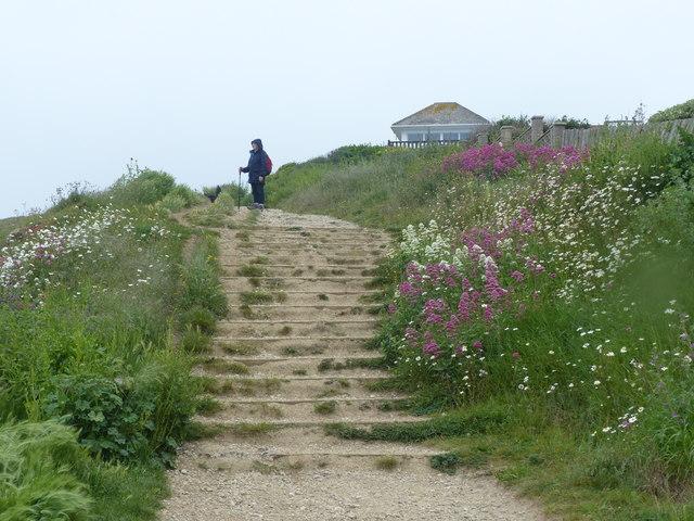Coast path, West Cliff, West Bay