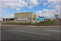 SP5923 : Warehouse estate under construction on Longlands Road, Bicester by David Howard
