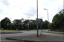 SP6021 : Roundabout on Charbridge Lane, Bicester by David Howard
