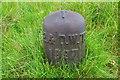 NT0960 : Water conduit marker, Harperrig Reservoir by Jim Barton