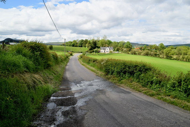 Water running along Spring Road