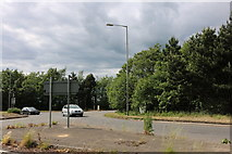 SP7732 : Roundabout on the A421, Great Horwood by David Howard