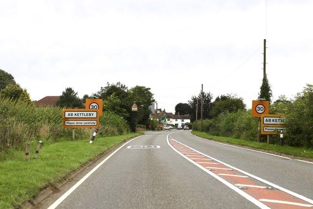 Entering Ab Kettleby
