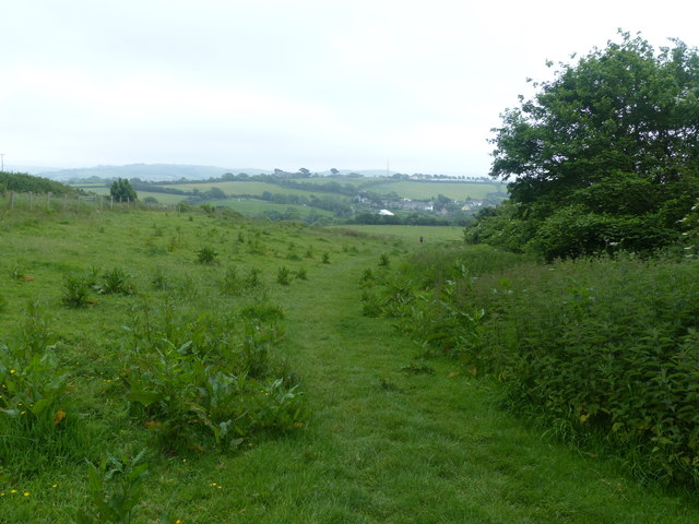 Bridleway anear Down House Farm