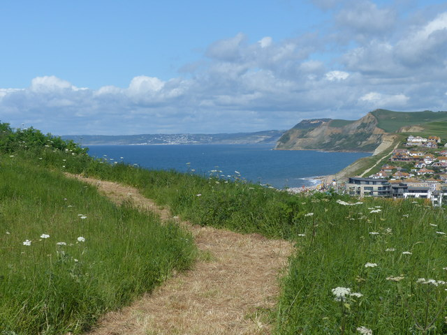 Footpath on East Cliff, West Bay