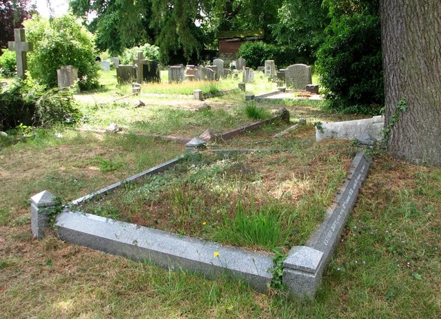 The grave of Esther and George Bury