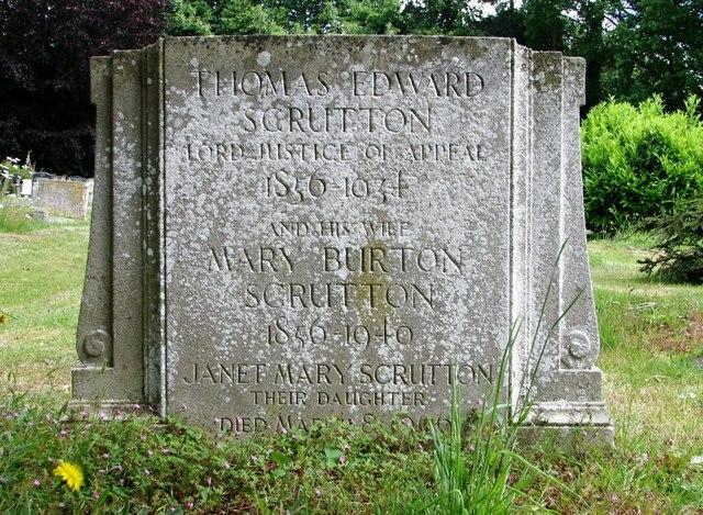The gravestone of Thomas Edward Scrutton
