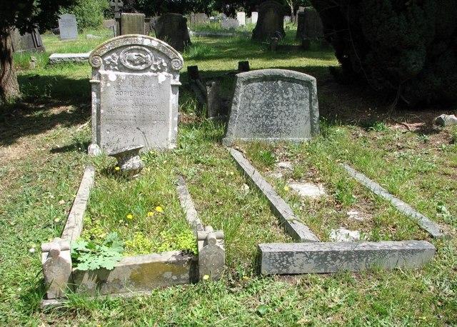 The grave of Sofie Brill