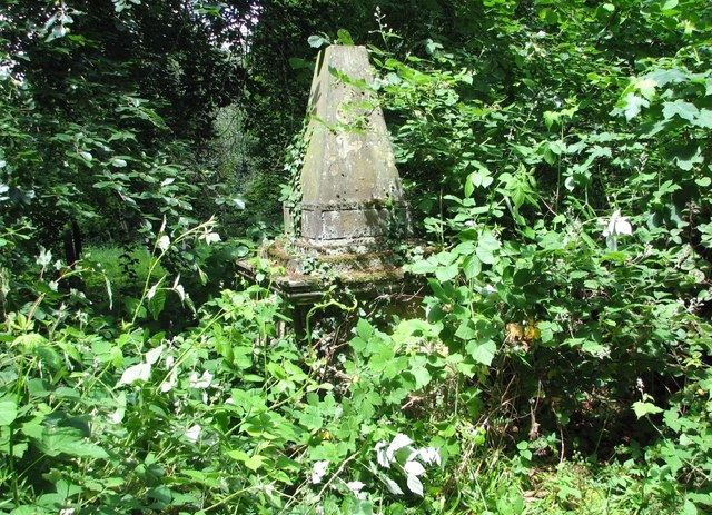 One of the overgrown and inaccessible monuments in Section F