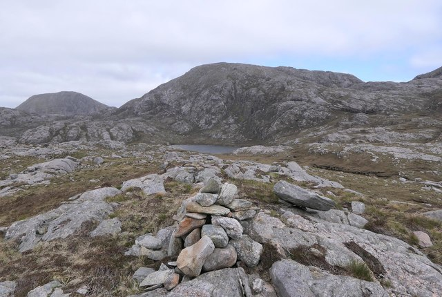 Cairn at the summit of Snoidibridh, Isle of Lewis