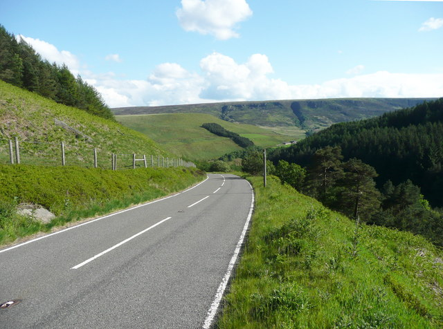 The A6024 descending to Woodhead, Tintwistle