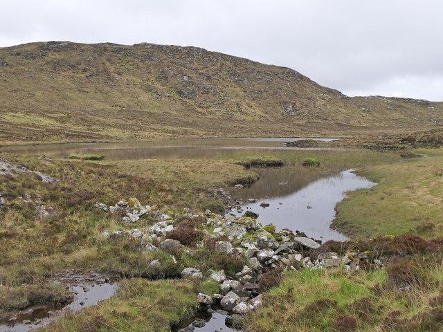 Dam on Loch Mòr na Muilne, Isle of Lewis