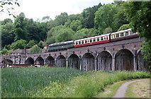 SJ6604 : Coalbrookdale Viaduct - steam special  by Chris Allen