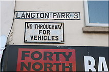 ST5871 : Pre-Worboys sign on Langton Park, Southville by David Howard