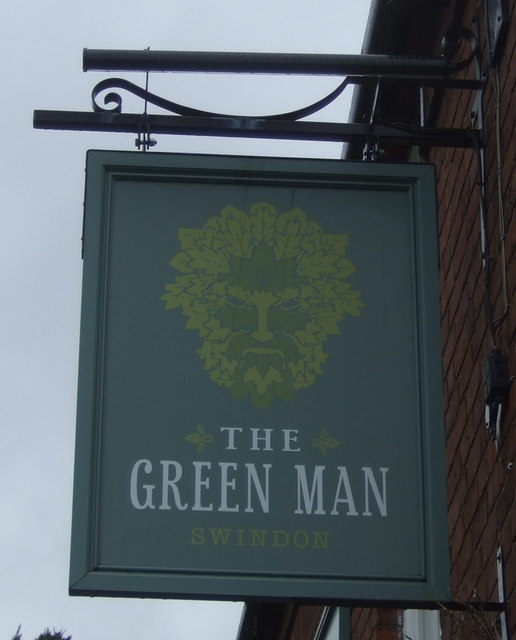 Sign for the Green Man Inn, Swindon, Staffordshire