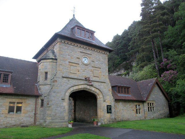 Entrance  to  the  Visitors  Centre.  Cragside