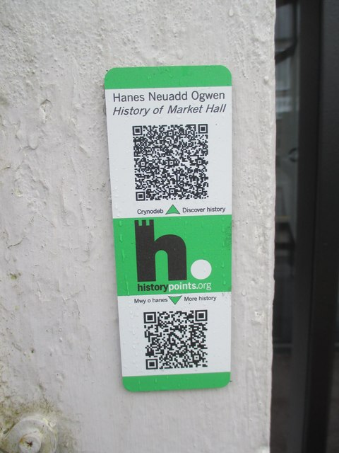 HiPoints information QR code at The Market Hall (Neuadd Ogwen), Bethesda