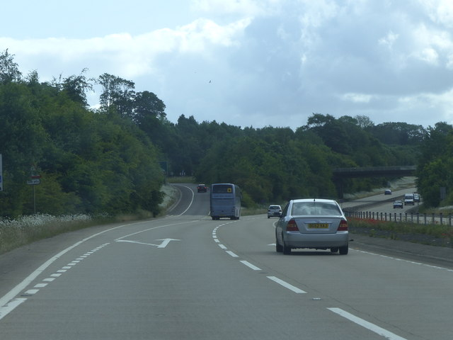 A35, junction for Puddletown and A354 to Blandford