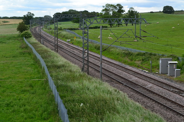 Railway line north of Gayton