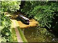 SJ4134 : Narrowboat approaching Ellesmere Tunnel, Llangollen Canal by David Dixon