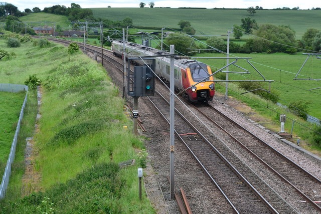 Northbound train near Gayton