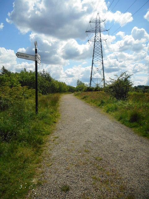 Pylon beside the path
