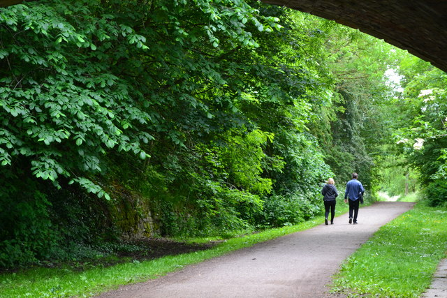On the Monsal Trail, through the bridge at Bakewell station