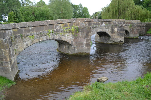 Stone bridge over the River Wye