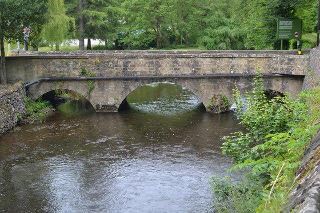Bridge into industrial estate at Lumford Mill