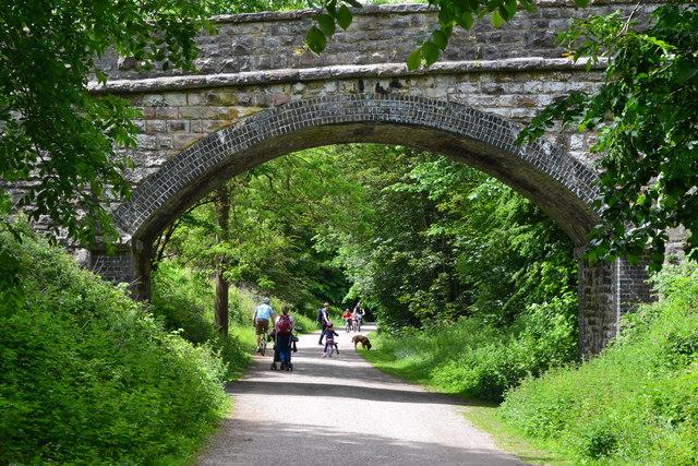 Bridge over the Monsal Trail near Rowdale House