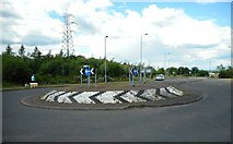 NS5159 : Roundabout on Parkmanor Avenue by Richard Sutcliffe