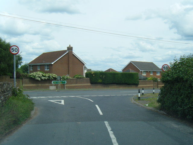 B4521 junction with the A49 at Old Pike