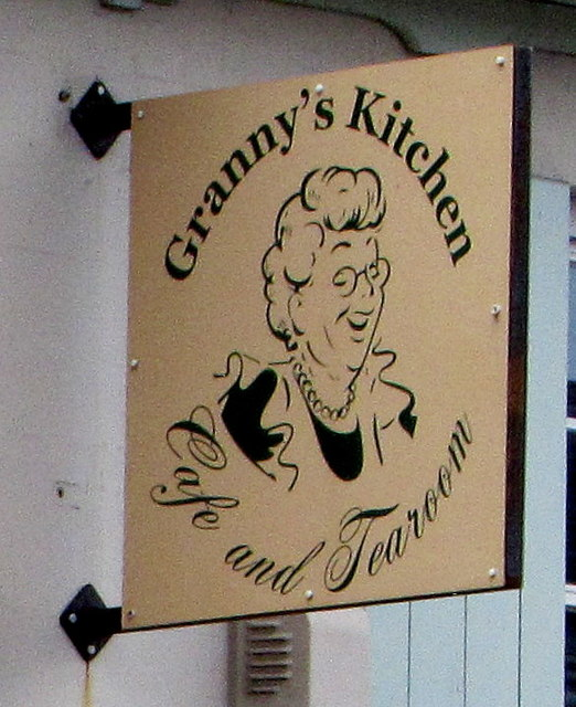 Granny's Kitchen name sign, High Street, Lampeter