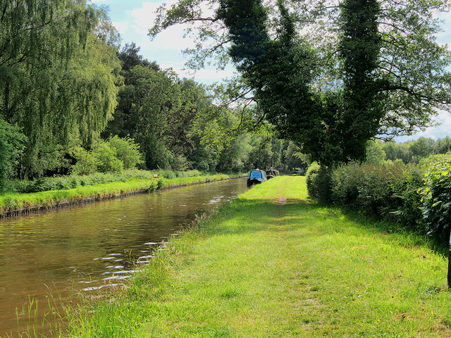 Shropshire Union (Llangollen) Canal south of Hampton Bank and