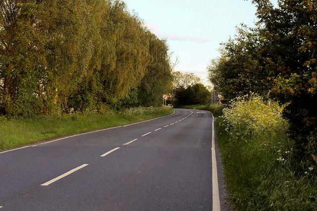A528 towards Shrewsbury