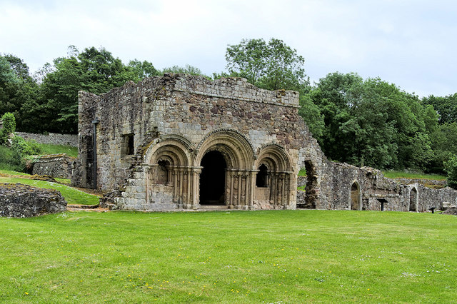 The Chapter House, Haughmond Abbey