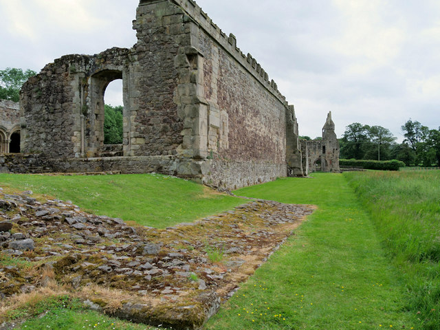 Haughmond Abbey, West Wall
