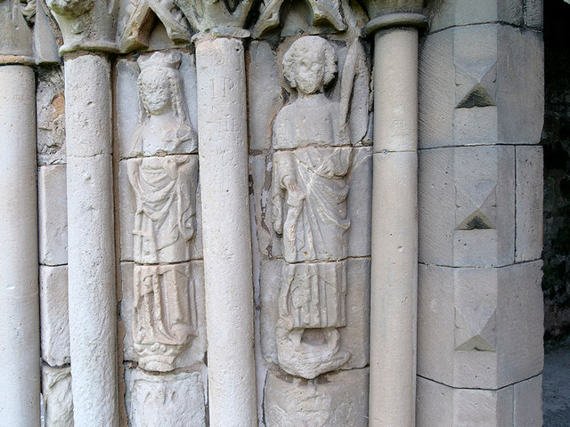 Haughmond Abbey, Chapter House Carvings