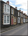 SN5748 : Stone houses, Bryn Road, Lampeter by Jaggery