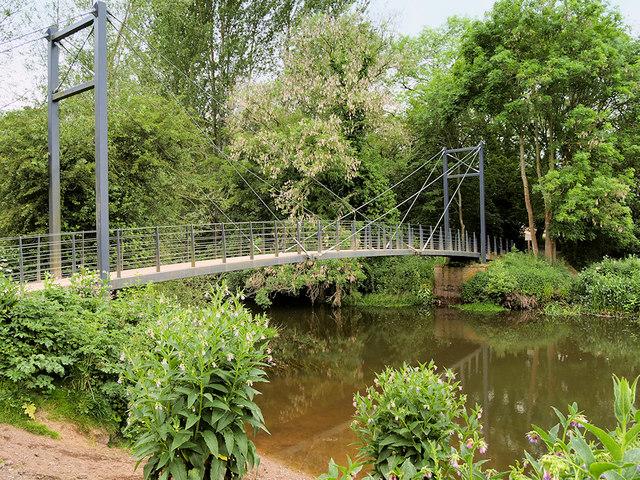 Attingham Park, Suspension Bridge over The River Tern