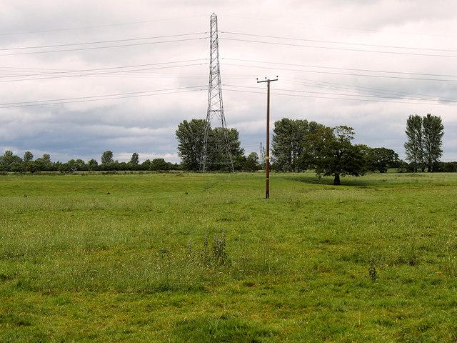 Farmland north of Attingham Park