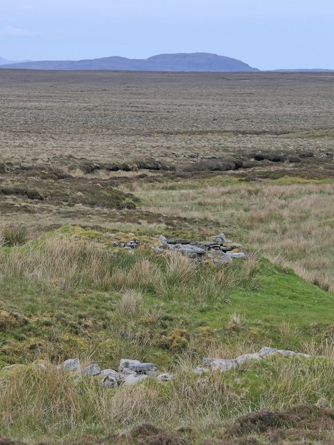 Shieling huts, Airighean Chatuil, Isle of Lewis