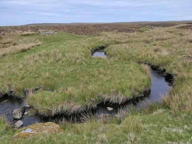 Bend in the Abhainn Shiadair, Isle of Lewis