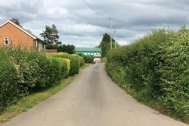 Lane to Wroxeter Roman Vineyard