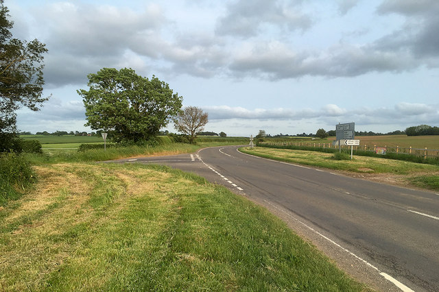 A528 at Myddle