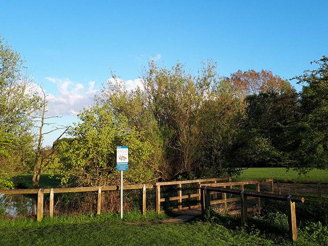 Footbridge over Marsh Beck in Golden Acre Park