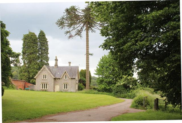 House on edge of Tyntesfield Estate