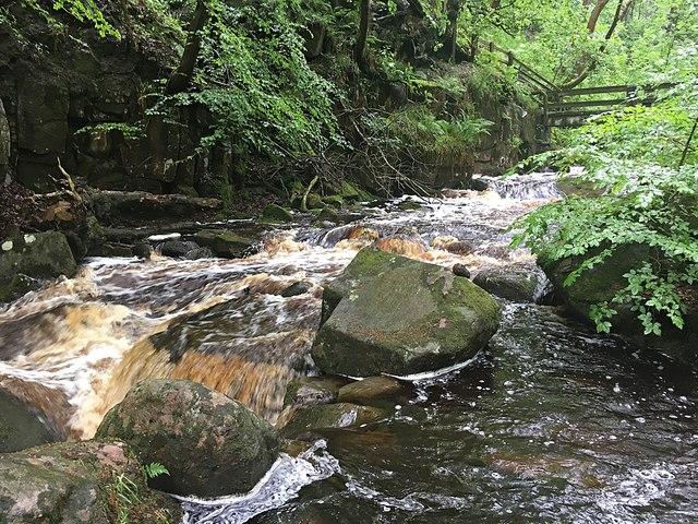 Burbage Brook in Padley Gorge