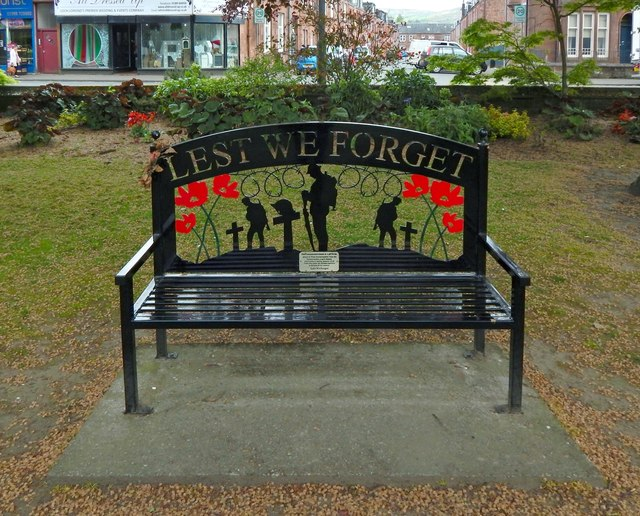 War Memorial Bench, Christie Park